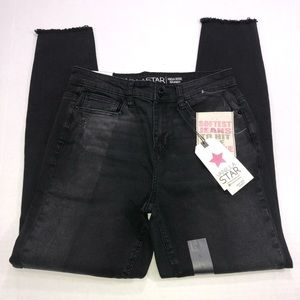 Vanilla Star High Rise Skinny Raw Hem Jeans Sz 5
